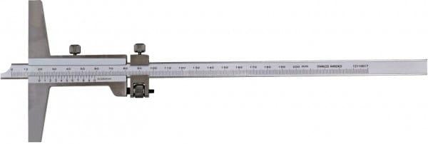 200mm Tiefen-Messschieber Mit Feineinstellung, DIN 862