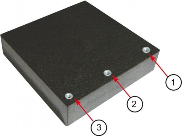 400 x 250 x 50mm Mess- Und Kontrollplatten Aus Granit Mit M8-Gewinde