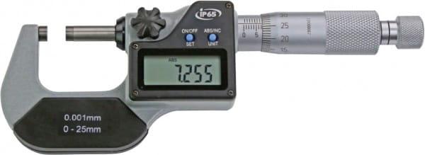 0 - 25mm Digital-Bügelmessschrauben, Ip65, DIN 863