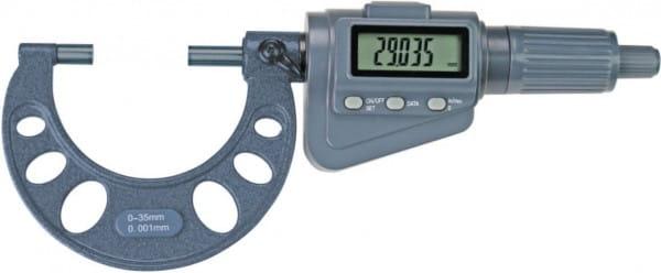 0 - 100mm Digital-Bügelmessschrauben Mit Friktionsratsche, Messweg 35 mm