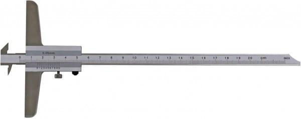 200mm Tiefen-Messschieber Mit Doppelhaken, DIN 862, Mit Umsteckbarer Messstange