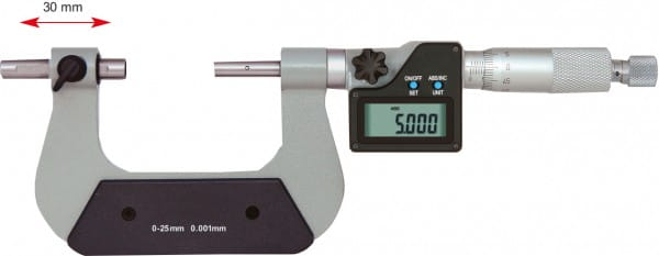 0 - 25mm Universal-Bügelmessschraube Mit Verschiebbarem Amboss