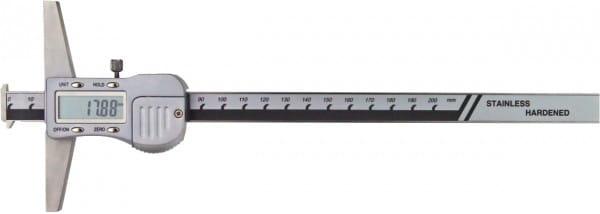 200mm Digital-Tiefen-Messschieber Mit Doppelhaken, DIN 862