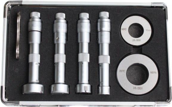 6 - 12mm Dreipunkt-Innen-Messschrauben-Satz, DIN 863