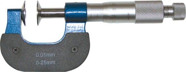 0 - 25mm Bügelmessschrauben Mit Tellermessflächen Und Nicht Drehender Spindel