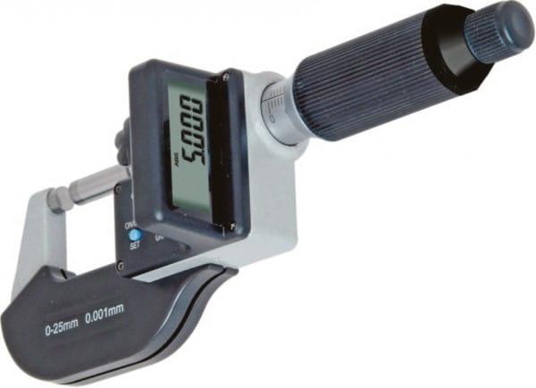 0 - 25mm Digital-Blechdicken-Bügelmessschraube Mit 2 mm Spindelsteigung, DIN 863