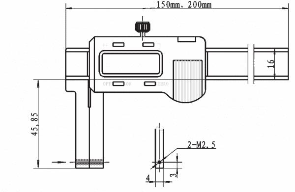 0 - 200mm Digital-Universal-Messschieber Mit Auswechselbaren Einsätzen
