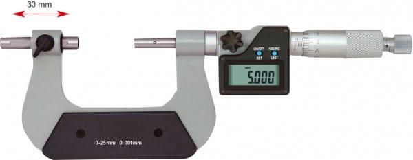 50 - 75mm Universal-Bügelmessschraube Mit Verschiebbarem Amboss