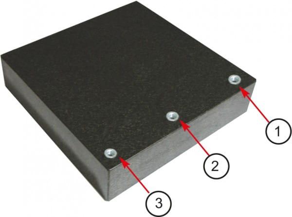 150 x 150 x 40mm Mess- Und Kontrollplatten Aus Granit Mit M8-Gewinde