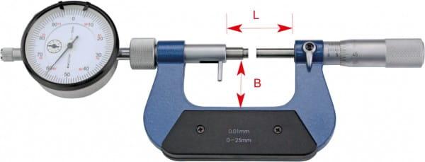 25 - 50mm Bügelmessschrauben Mit Messuhr