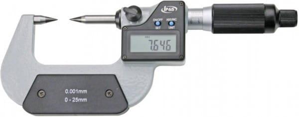 0 - 25mm Digital-Messschrauben Mit Hm-Spitzen, 2 mm Spindelsteigung