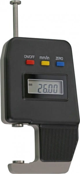 0 - 25mm Digital-Dicken-Messgerät Mit Teller-Messflächen