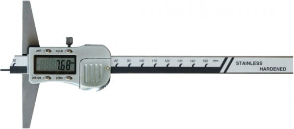 80mm Digital-Tiefen-Messschieber Mit Stiftspitze Ø 1,5 X 6 mm, DIN 862