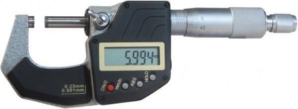 0 - 25mm Digital-Bügelmessschrauben, DIN 863