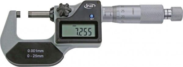 0 - 25mm Digital-Bügelmessschrauben Ip65, DIN 863, Anzeige Nur mm